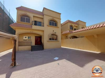 5 Bedroom Villa for Rent in Al Rawda, Ajman - Villa for rent on a general street, citizen electricity, with air conditioners