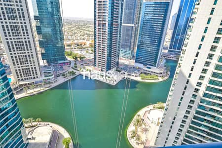 1 Bedroom Apartment for Rent in Jumeirah Lake Towers (JLT), Dubai - Duplex | Lake view | Unfurnished