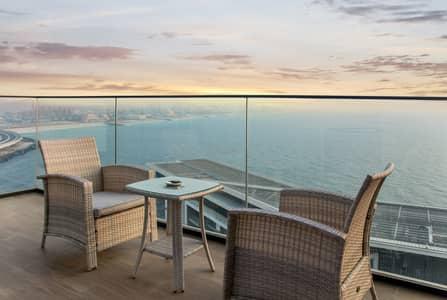 شقة 1 غرفة نوم للبيع في جزيرة بلوواترز، دبي - Stunning Sea View l Fully Firnished l Premium Unit