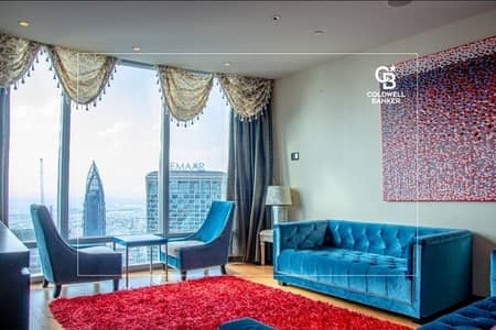 2 Bedroom Apartment for Rent in Downtown Dubai, Dubai - Furnished 2BR +  Maids room Downtown & Opera view