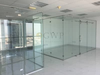 Office for Sale in Business Bay, Dubai - Fitted Office with Glass Partition in Business Bay