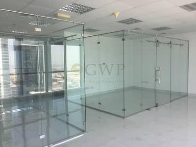 مکتب  للبيع في الخليج التجاري، دبي - Fitted Office with Glass Partition in Business Bay