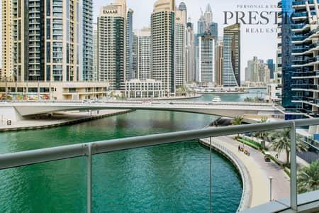 فلیٹ 2 غرفة نوم للايجار في دبي مارينا، دبي - Lager Full Marina View 2 beds + Study