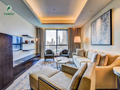 Hotel Apartment for Rent in Downtown Dubai, Dubai - Fully Furnished | Studio | High Floor | Vacant