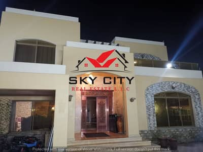 6 Bedroom Villa for Sale in Al Mowaihat, Ajman - The most beautiful villa in Ajman is a 6400-foot villa Directly from the owner European villa faced with a stone On the sidewalk Street, luxury design The best real estate agents Owns a lifetime villa at a price of a shot and all facilities Modern villa f