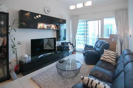 شقة 1 غرفة نوم للايجار في أبراج بحيرات الجميرا، دبي - Fully Furnished | High Floor | Lake View