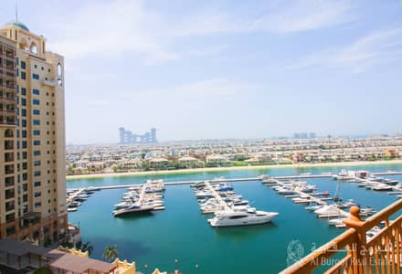 2 Bedroom Flat for Sale in Palm Jumeirah, Dubai - Sea View Two Bedroom + maid's room in marina residence for Sale