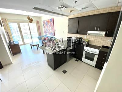 1 Bedroom Flat for Rent in Dubai Marina, Dubai - Fully Furnished | Partial Sea View | White Goods