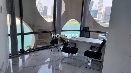 Office for Rent in Business Bay, Dubai - Fitted Offices | Multiple Cabins | Canal View | 12 cheques