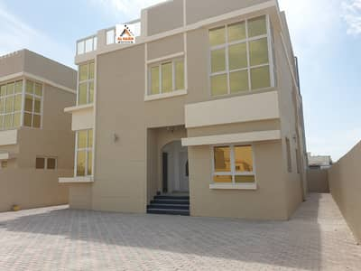 5 Bedroom Villa for Sale in Al Rawda, Ajman - You own your villa without down payment Sale A new villa behind central air  Sheikh Ammar Street in Al Rawda 2 area in Ajman with the possibility of bank, cash or housing financing
