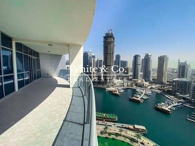 Floor for Sale in Dubai Marina, Dubai - Penthouse   Full Floor   Swimming Pool   Upgraded