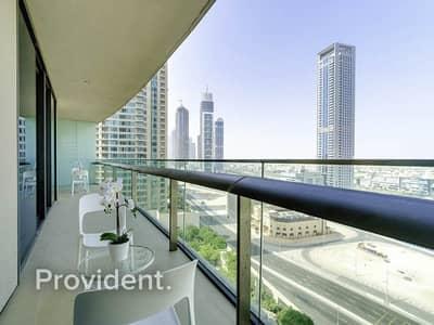 2 Bedroom Apartment for Rent in Downtown Dubai, Dubai - Quality Furnishing | Ocean Views | Location