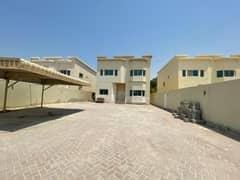 سنوياًفيلا 70 ألف غرفة ماستر + غرفة خادمة للإيجار في الجرف عجمان