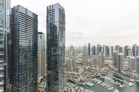2 Bedroom Apartment for Rent in Dubai Marina, Dubai - Semi Furnished | Breathtaking Marina View