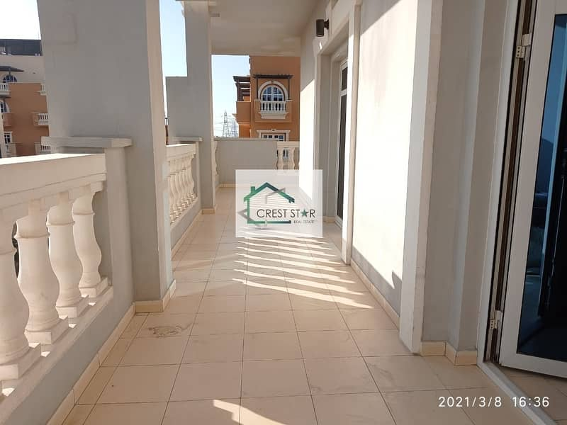 14 Large BHK with big balcony plus maids room with balcony