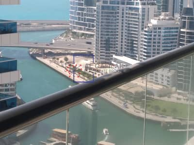 Studio for Rent in Dubai Marina, Dubai - Sea view  | Studio | Semi furnished | Balcony | 35K