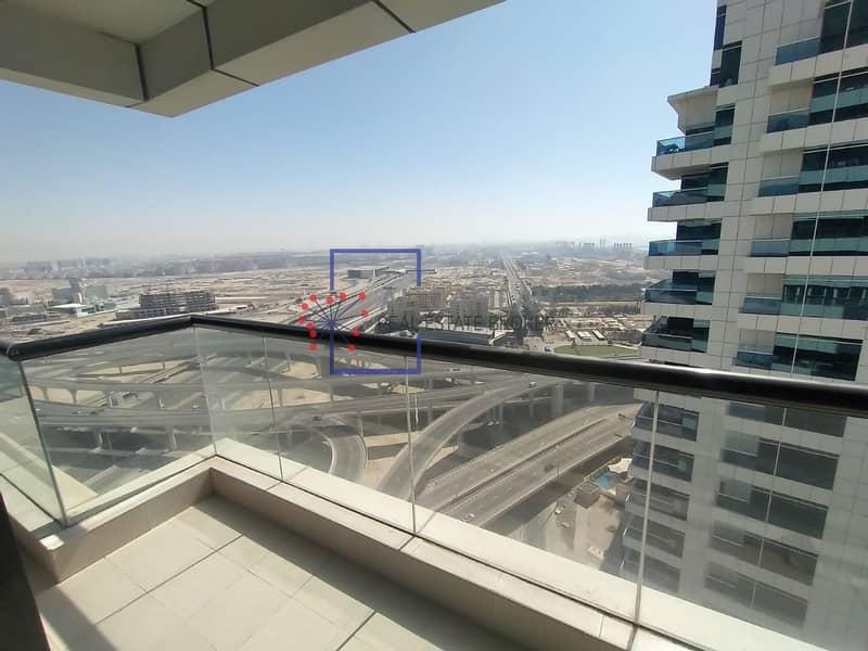 2 Sea view  | Studio | Semi furnished | Balcony | 35K