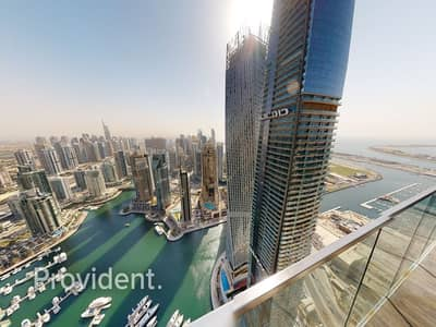 3 Bedroom Flat for Rent in Dubai Marina, Dubai - Corner Unit   Panoramic Marina View   High Floor