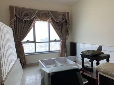 شقة 2 غرفة نوم للبيع في الرميلة، عجمان - صالة ضخمة مكونة من غرفتين للبيع برج كورنيش عجمان