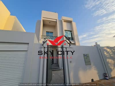 5 Bedroom Villa for Sale in Al Mowaihat, Ajman - Owns Villa Al-Omralan Modern villa, European design The first inhabitant of the sidewalk Contact us now to inquire about villas, prices and financing methods Sky City is the largest real estate office in Ajman The best real estate agents