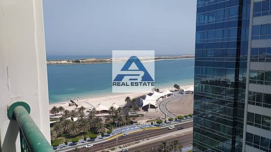 فلیٹ 3 غرف نوم للايجار في شارع الكورنيش، أبوظبي - Partial Sea View !Three bedrooms ! Maids Room ! Balcony