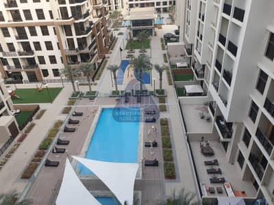 1 Bedroom Flat for Rent in Town Square, Dubai - 1 BR Hall  |  Balcony | Pool View |  Ready to Move