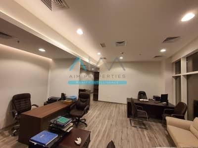 مکتب  للايجار في الخليج التجاري، دبي - Fully Furnished Office | High Floor | 1 Parking | Near Metro