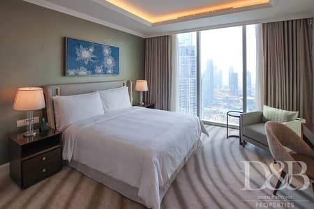 3 Bedroom Flat for Rent in Downtown Dubai, Dubai - Burj View | Fully Furnished | 3 Bedrooms