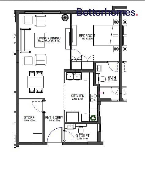 16 Brand New | Ground Floor | Study Room