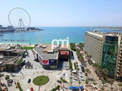 3 Bedroom Apartment for Sale in Jumeirah Beach Residence (JBR), Dubai - Sea & Dubai Eye view | Spacious layout | Vacant