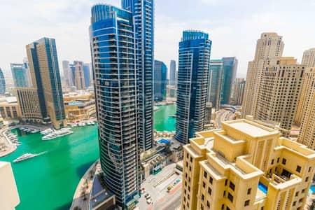 4 Bedroom Flat for Rent in Jumeirah Beach Residence (JBR), Dubai - 4 Bed plus Maid   Marina View   Sadaf 2