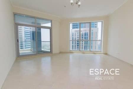 فلیٹ 1 غرفة نوم للايجار في دبي مارينا، دبي - High Floor 1 Bed   Unfurnished   Sea View