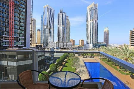 1 Bedroom Apartment for Sale in Dubai Marina, Dubai - Pool View | Fully Furnished 1 BR | Great deal