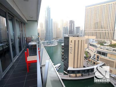 2 Bedroom Apartment for Sale in Dubai Marina, Dubai - Upgraded 2 Bed | Marina View | Vacant Soon