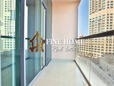 شقة 1 غرفة نوم للايجار في مارينا، أبوظبي - Stunning 1BR w/ Sea View Balcony + Free Parking