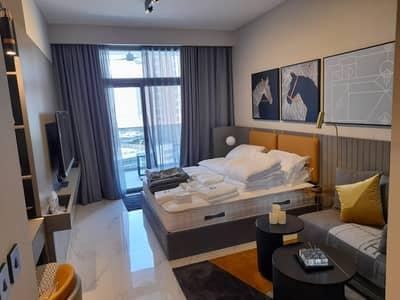 استوديو  للايجار في الخليج التجاري، دبي - Brand New Lake view Corner Fully Furnished Studio 55k