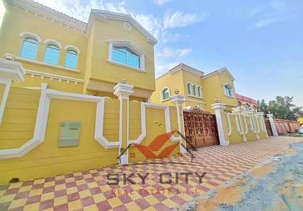 5 Bedroom Villa for Sale in Al Mowaihat, Ajman - The most beautiful villas in Ajman European villa faced with a stone On the sidewalk Street, luxury design The best real estate agents Owns the villa of a lifetime at a price of a shot and all the facilities Modern villa freehold without down payment At a