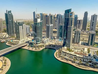 1 Bedroom Apartment for Rent in Dubai Marina, Dubai - Unfurnished / Full Marina View / High Floor