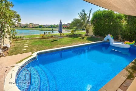 2 Bedroom Villa for Rent in The Springs, Dubai - Upgraded 4E - Private Pool and Lake View