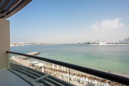 Studio for Rent in Palm Jumeirah, Dubai - Furnished Spacious apt with 6 Cheques|On the Beach