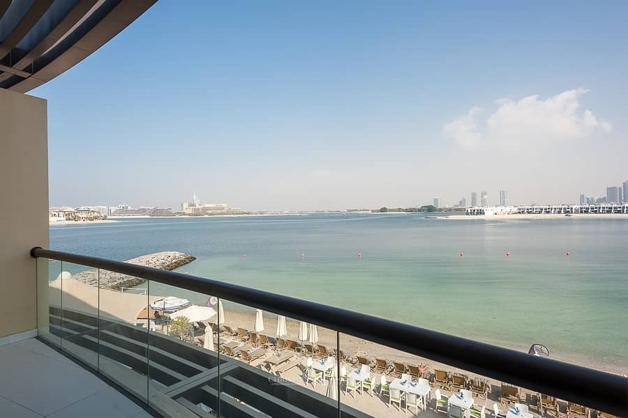 Furnished Spacious apt with 6 Cheques|On the Beach