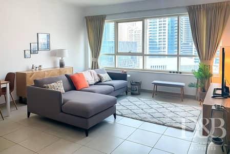 فلیٹ 1 غرفة نوم للايجار في دبي مارينا، دبي - Marina View | Furnished | Bright & Spacious