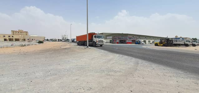 Plot for Sale in Al Jurf, Ajman - G+2 Corner Plot on Main Road in Jurf Industrial, Ajman