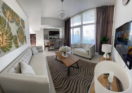 4 Bedroom Townhouse for Rent in Akoya Oxygen, Dubai - FULLY FURNISHED 3BHK + MAIDS I SINGLE ROW