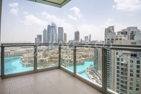 فلیٹ 2 غرفة نوم للايجار في وسط مدينة دبي، دبي - Full Burj and Fountain View| Furnished |High Floor
