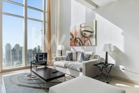 فلیٹ 1 غرفة نوم للايجار في أبراج بحيرات الجميرا، دبي - Loft Fully furnished High floor Panoramic windows