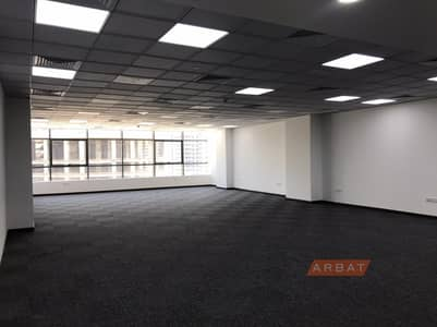 Office for Rent in The Greens, Dubai - Office for rent | Spacious  | Carpeted Floors | Ready to use | Shekh Zayed road view