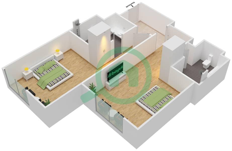Floor Plans For Unit 11 12 2 Bedroom Apartments In Rove City Walk Bayut Dubai