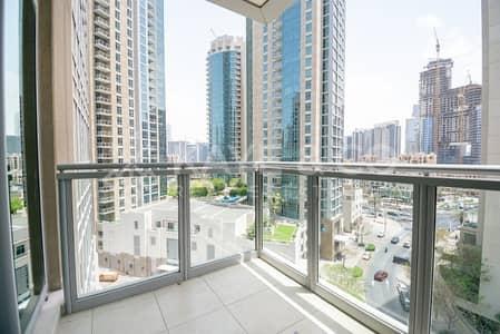 شقة 1 غرفة نوم للايجار في وسط مدينة دبي، دبي - Unfurnished | Low Floor | Balcony | Downtown View