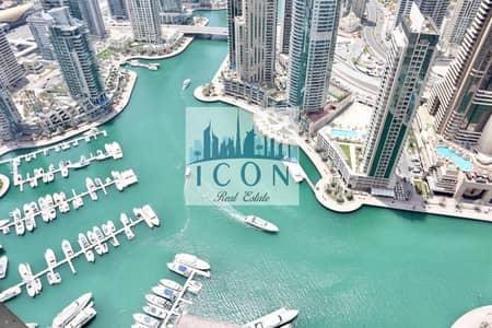 3 Bedroom Flat for Rent in Dubai Marina, Dubai - 2 Parking I Maid Room I Marina View I High Floor